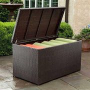 All-Weather Wicker Outdoor Storage Box
