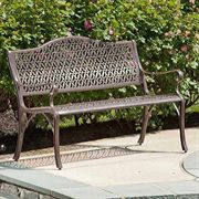 Ramblas Cast-Aluminum Outdoor Bench