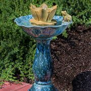 Corona Ceramic Outdoor Fountain/Birdbath