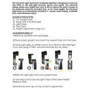 SunBlaster Seed Starting Universal T5 Light Stand Alternate Image 4