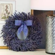 12-inch Dried Fragrant Lavender Wreath