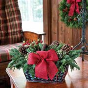 Woodlands Fresh Noble Fir Evergreens Basket