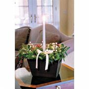 Deluxe Winter White Holly Centerpiece