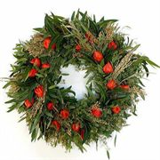 22-inch Fall Lantern Wreath