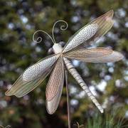 Iron Dragonfly Garden Ornament