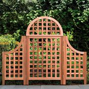 Western Red Cedar Privacy Screen and Wings