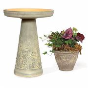 Woodland Shade Birdbath and Planter
