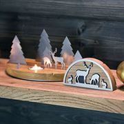 Handcrafted German Tea Light Woodland Scene
