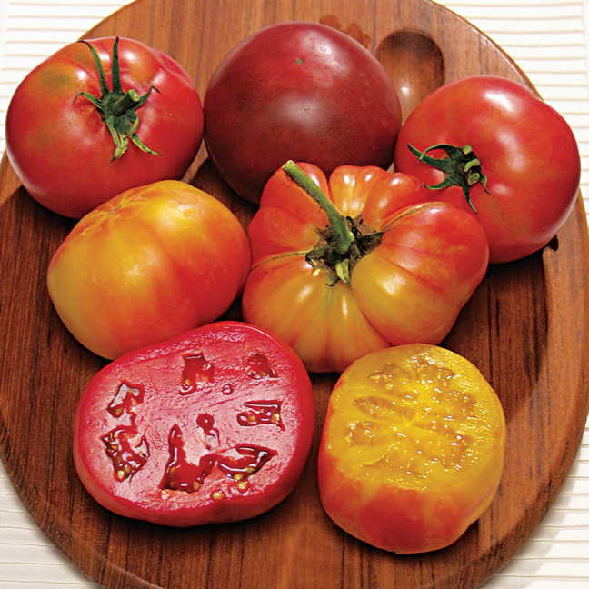 how to cut heirloom tomatoes