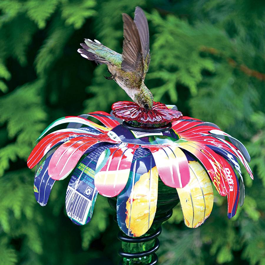 Sugar Shack™ Flower Stake Hummingbird Feeder Image